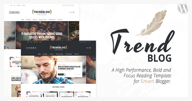 trendblog WordPress blog theme