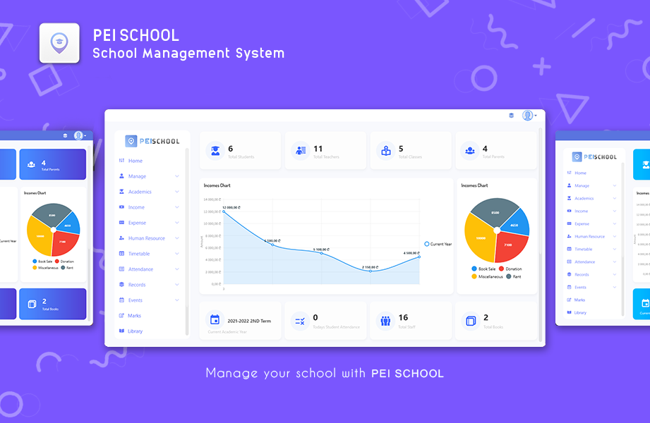 PEI SCHOOL - School Management System - 1