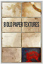 8 old paper textures/backgrounds - 120