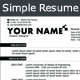 Simple Resume (02 pages & 03 versions) - GraphicRiver Item for Sale