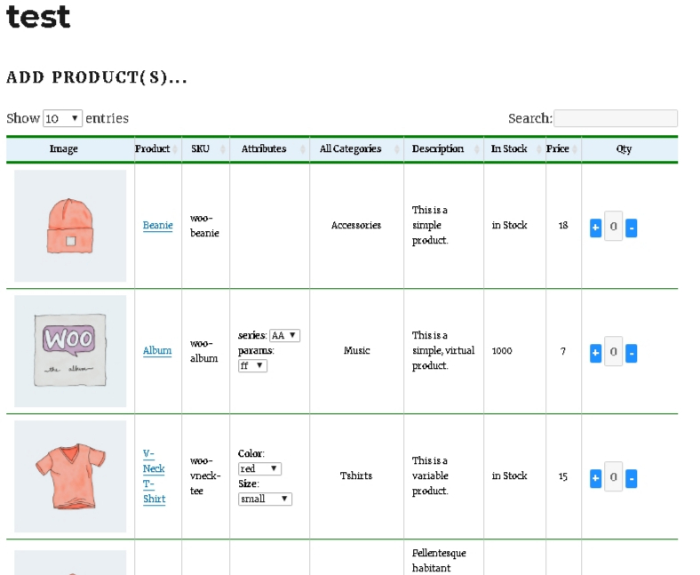 Flance Add Multiple Products order form PRO Woocommerce PLugin - 1