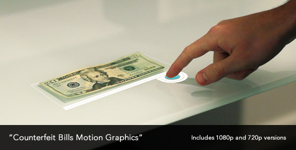 Counterfeit Bills Motion Graphics | Stock Footage
