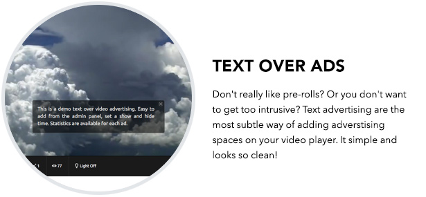 Text Over Advertising