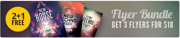 Techno Flyer Bundle