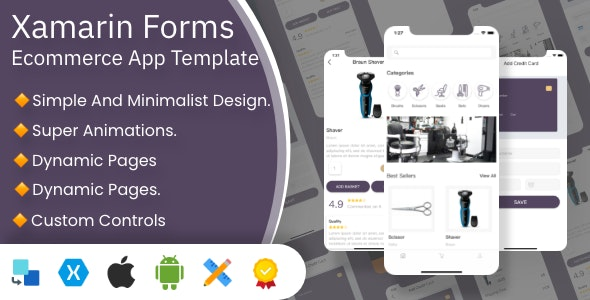 XFShop eCommerce Application Template - Xamarin Forms (Android/iOS)
