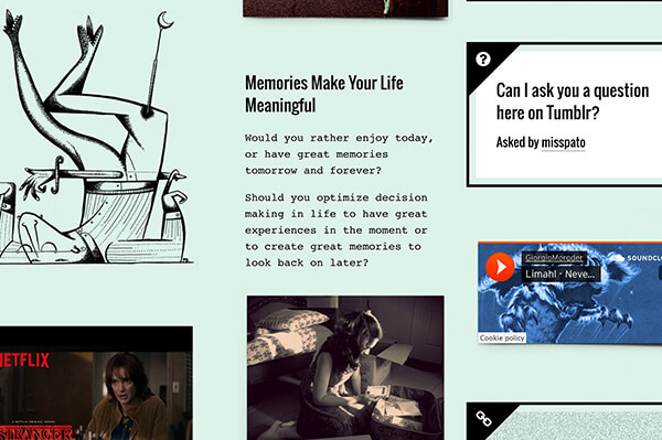 Memorabilia Tumblr Theme - 7