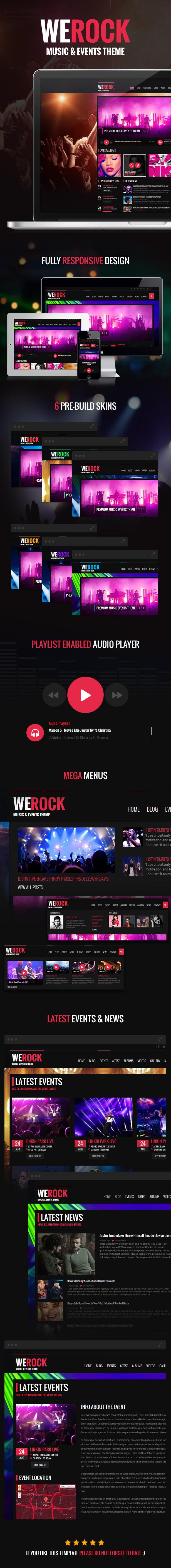 WeRock - Ajax Music Radio Streaming & Event HTML Template - 1