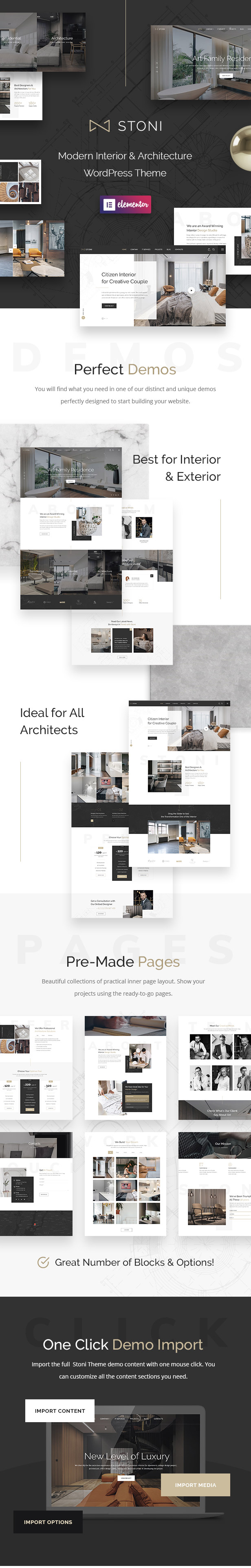 Stoni - Architecture & Interior Design Agency WordPress Theme - 2