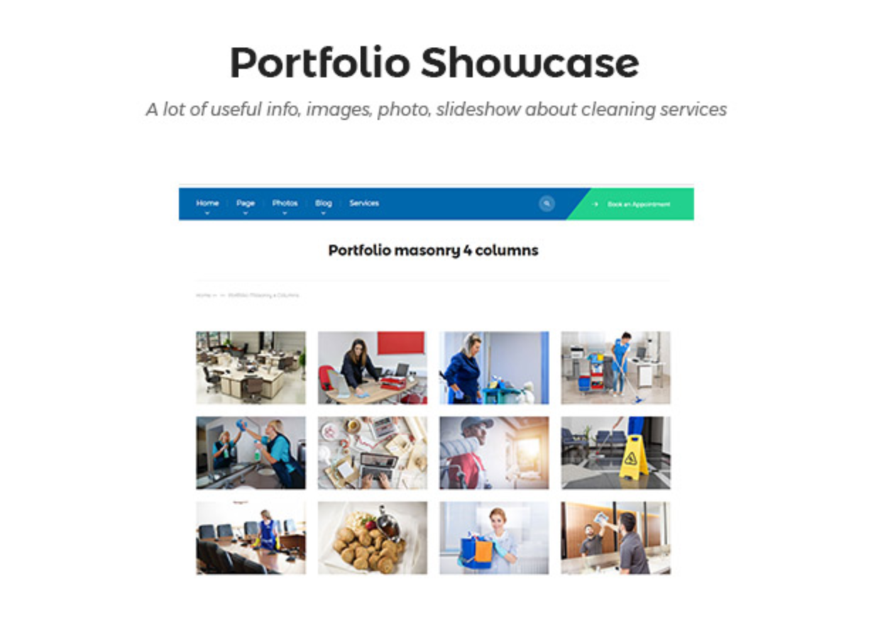 Cleanmark Portfolio Showcase- Best Cleaning Service, Cleaning Company, Cleaning Business WordPress Theme