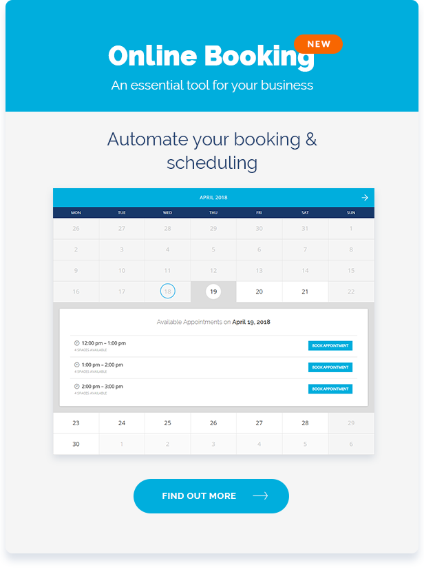 airpro theme online booking