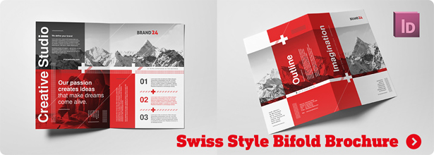 Swiss Style Square Trifold Brochure - 3