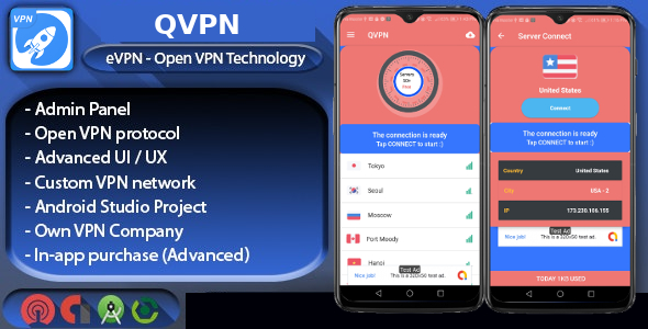 eVPN - Free Ultimate VPN | Android VPN, Billing, Phone Booster, Admob / Push Notification - 8