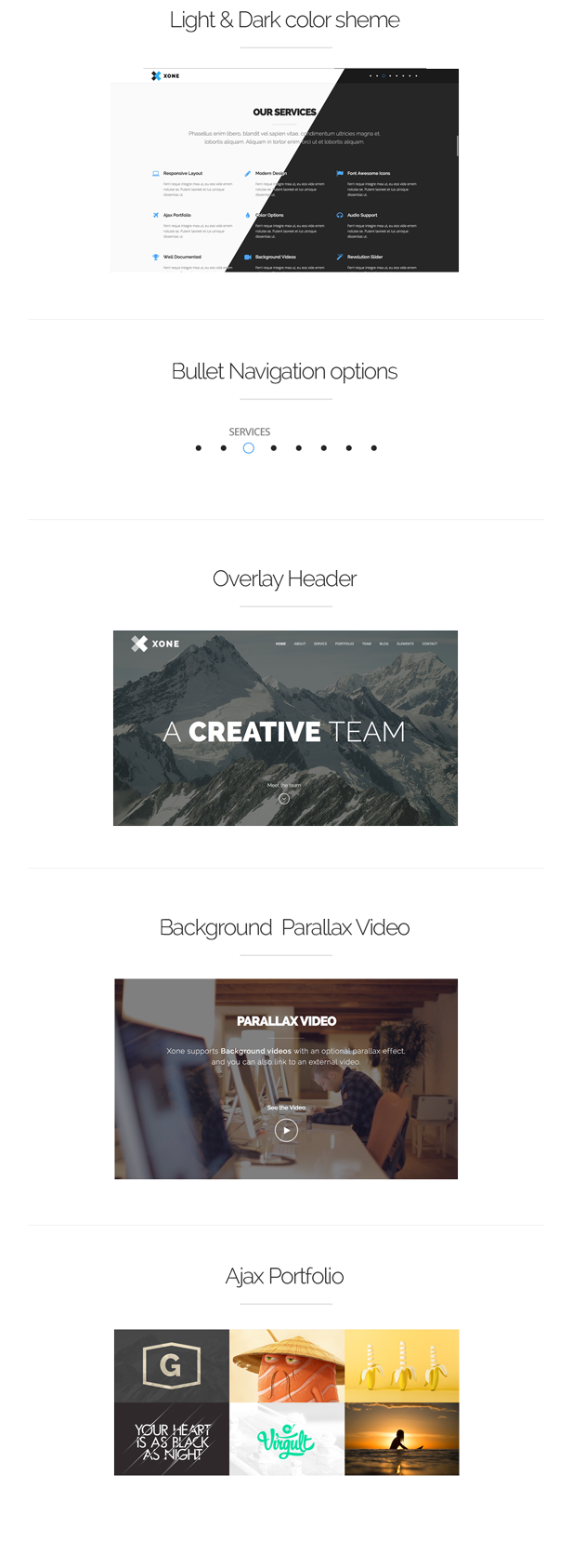 Xone - Clean One Page Template - 9