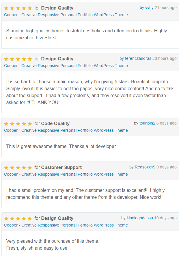 Cooper Reviews