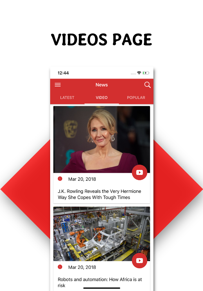 Full functional news app with admin panel Firebase Firestore & Ionic Framework - 4
