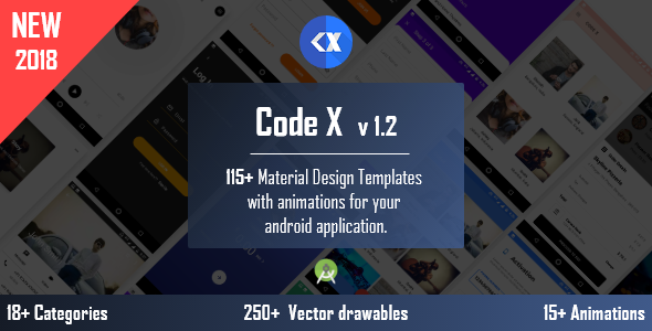 CodeX - Android Material UI Templates