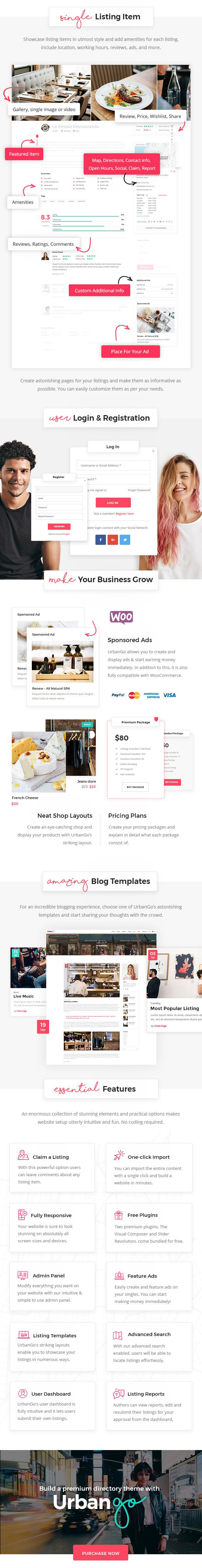UrbanGo - Directory and Listing WordPress Theme - 4