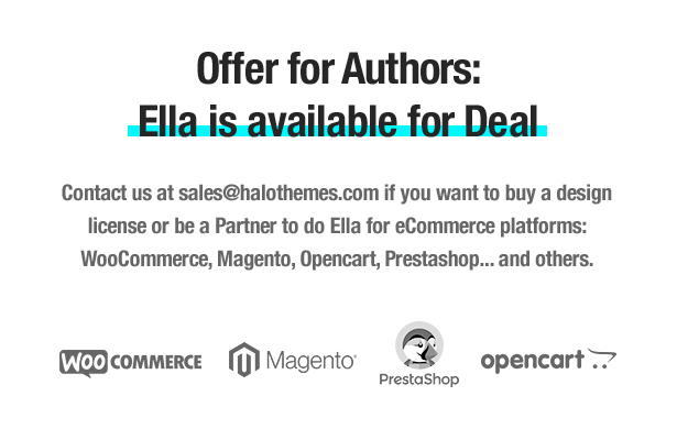 Offer for Authors - Ella is available for Deal