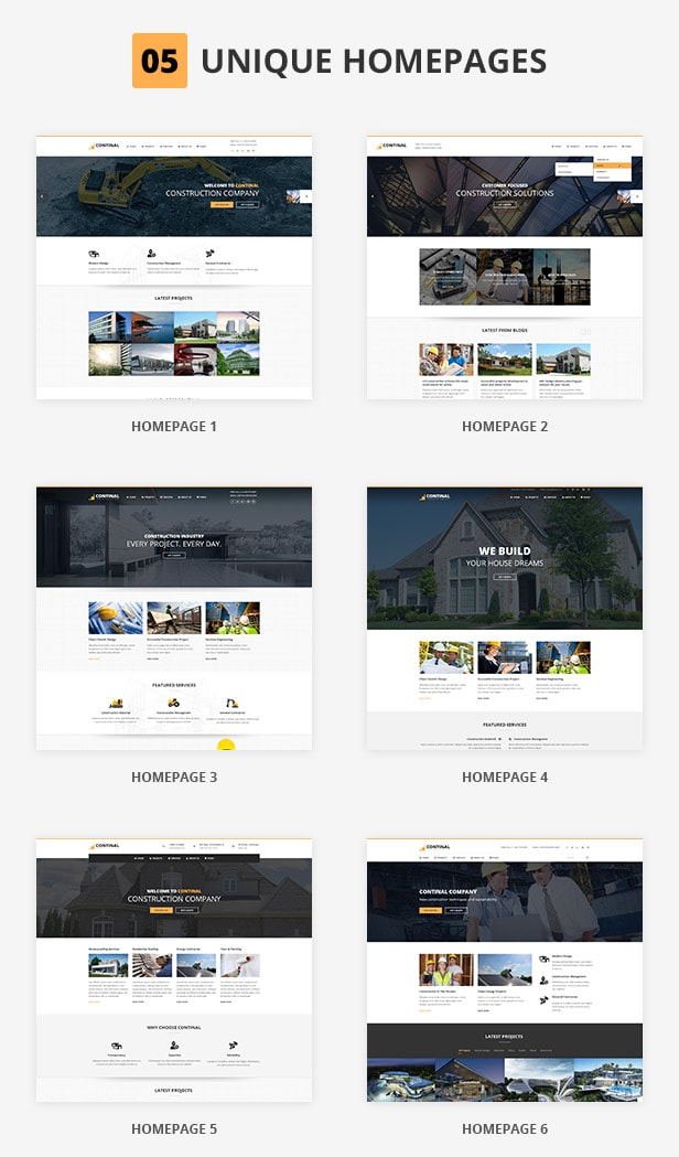 Continal - Construction Business HTML5 Template 2