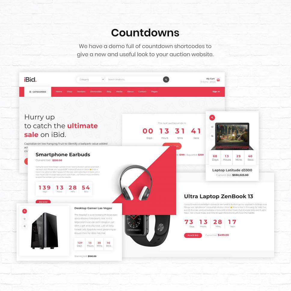 iBid - Multi Vendor Auctions WooCommerce Theme - 28