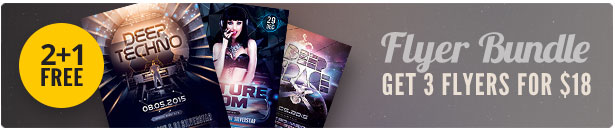 Electronic Flyer Bundle Vol.01