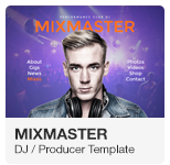 DJ Producer Website Adobe Muse Template