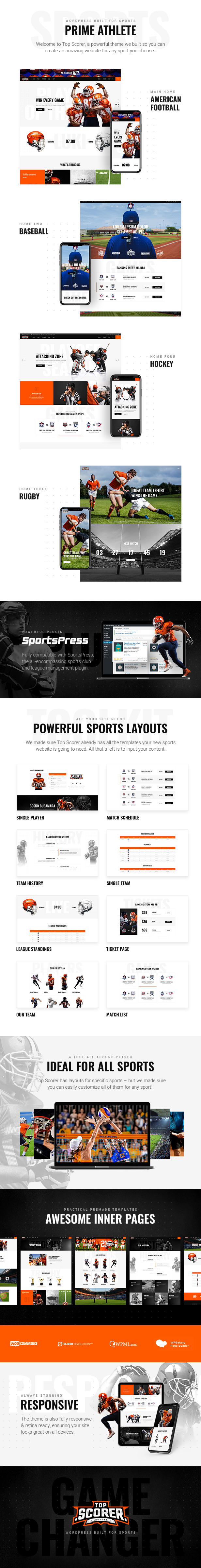 TopScorer - Sports WordPress Theme - 1
