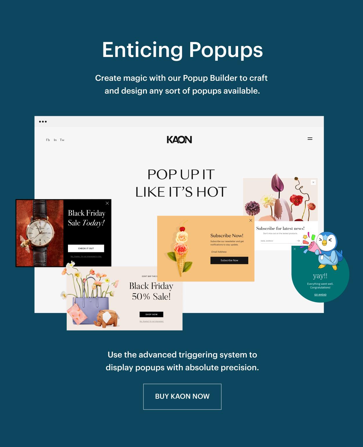 Kaon WordPress Theme - Popup Builder
