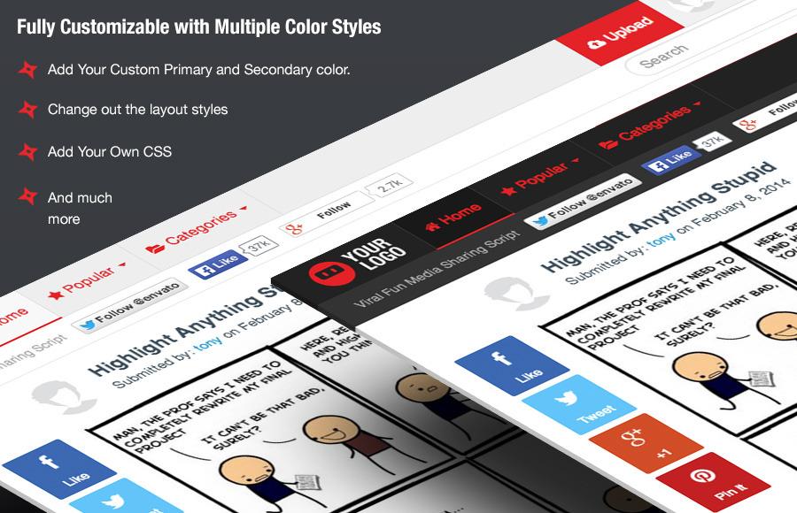 Ninja Media Script - Viral Fun Media Sharing Site - 7