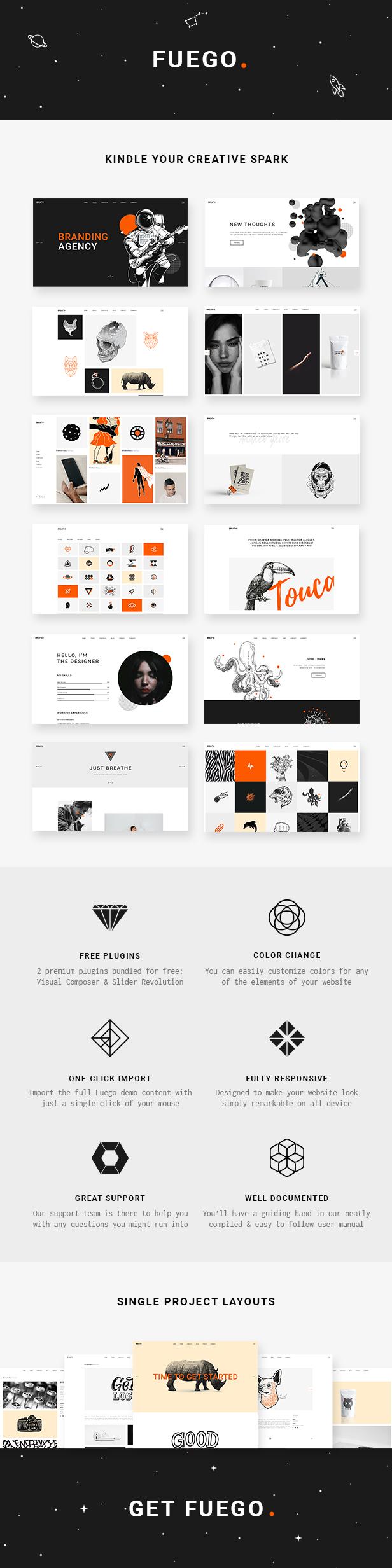 Fuego - A Creative Portfolio Theme for Designers and Agencies - 1