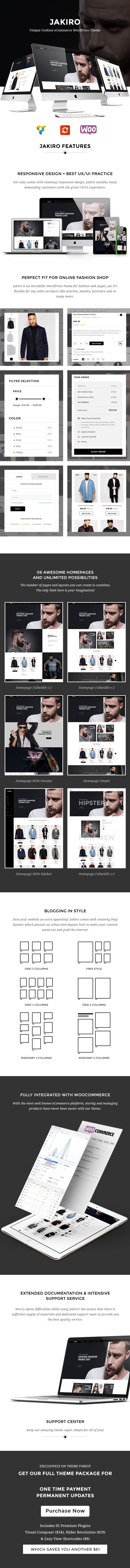 Jakiro - Unique Fashion Shop WordPress Theme