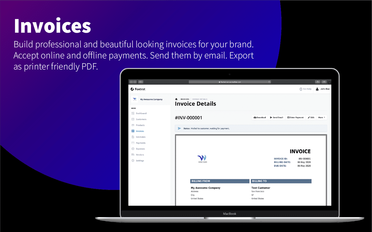 Foxtrot (SaaS) - Customer, Invoice and Expense Management System - 9