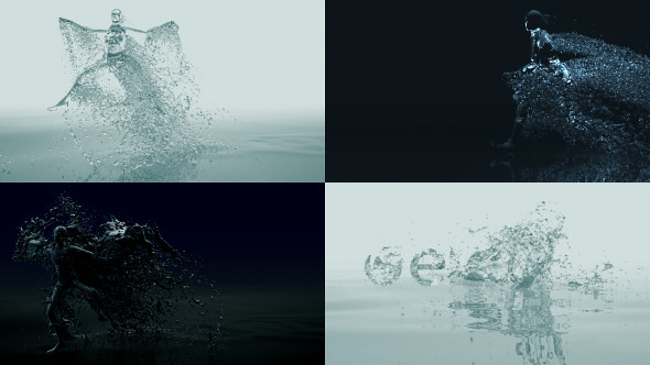 Water Drop Splash Logo - 65