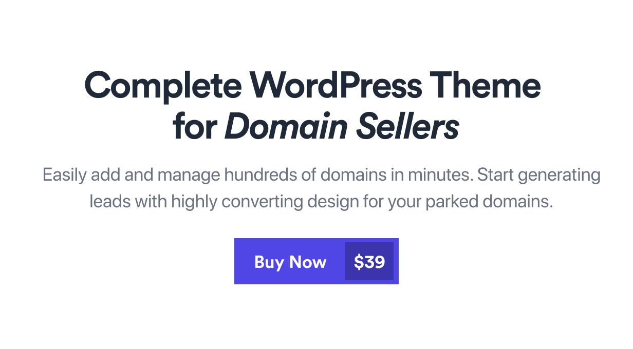 Nami - Complete Domain Sale Theme Premium themeforest WordPress Theme