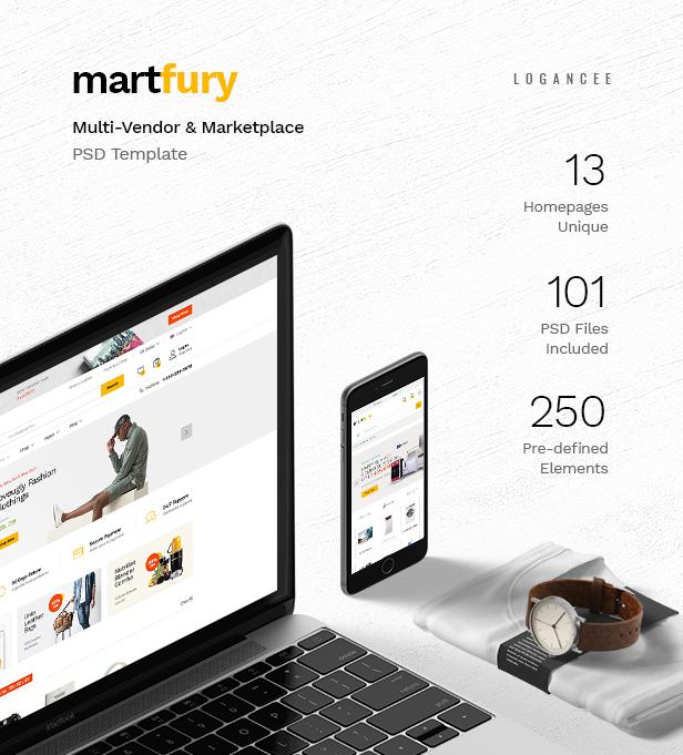 MartFury | Multi-Vendor & Marketplace eCommerce PSD Template - 12