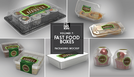 fast food boxes vol 7 take out packaging mock ups by ina717
