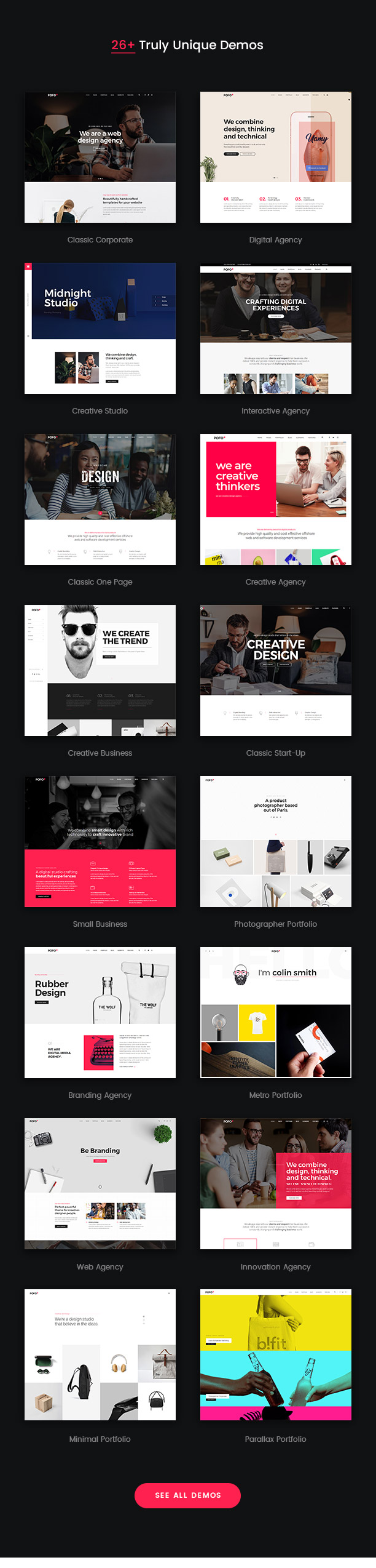 Pofo - Creative Agency, Corporate and Portfolio Multi-purpose Template - 5
