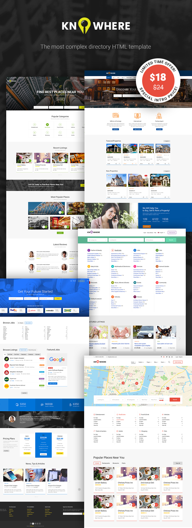 Knowhere - Multipurpose Directory HTML Template - 1