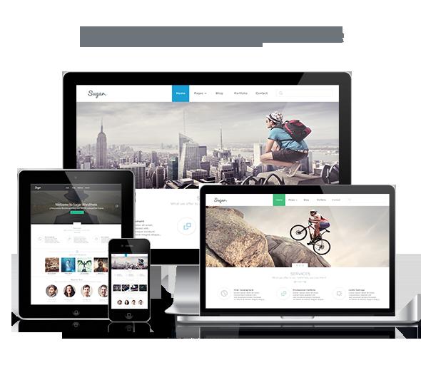 Sugar - Business Responsive WordPress Theme - 1