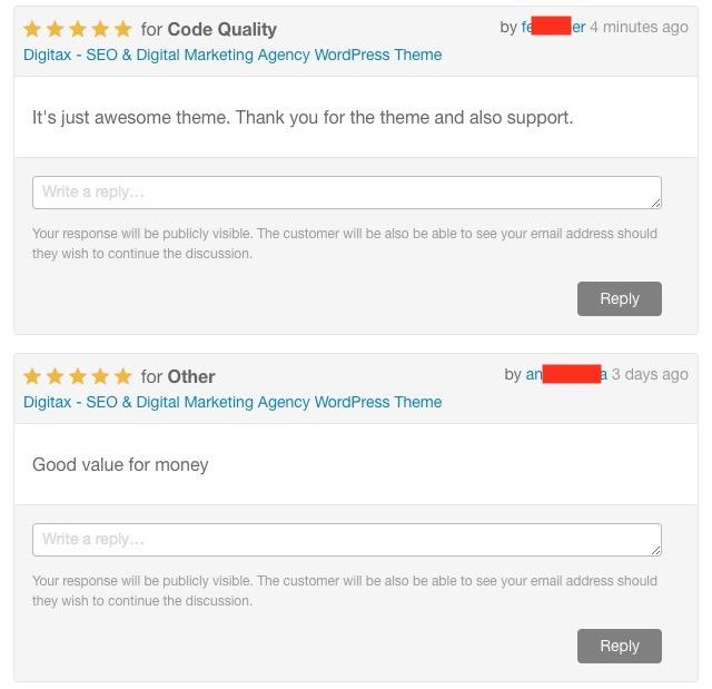 Rate Digitax WordPress Theme