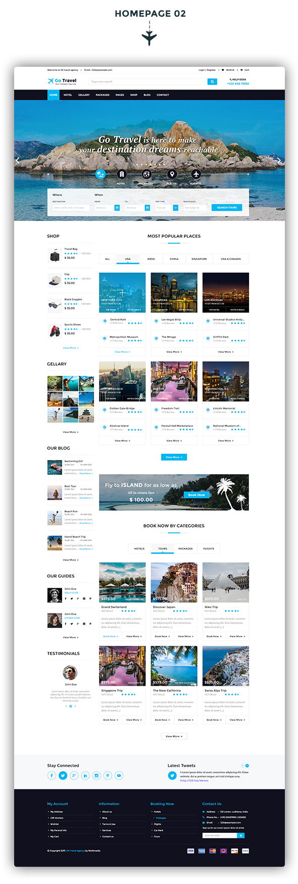 Travel PSD Template - 3