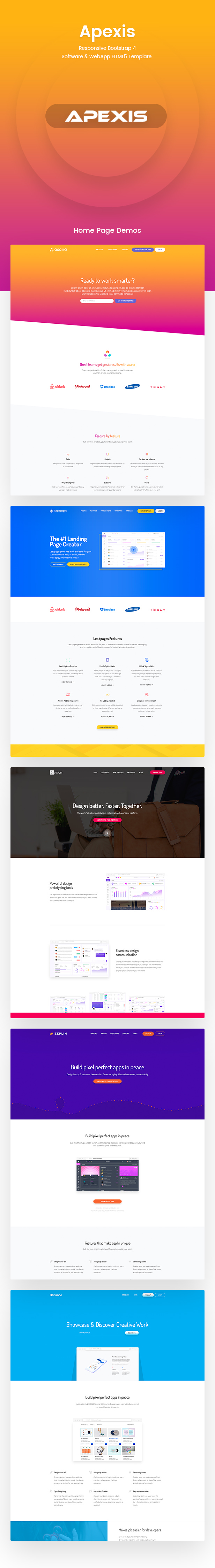 Apexis - Responsive Bootstrap 4 Software & WebApp HTML5 Template - 2
