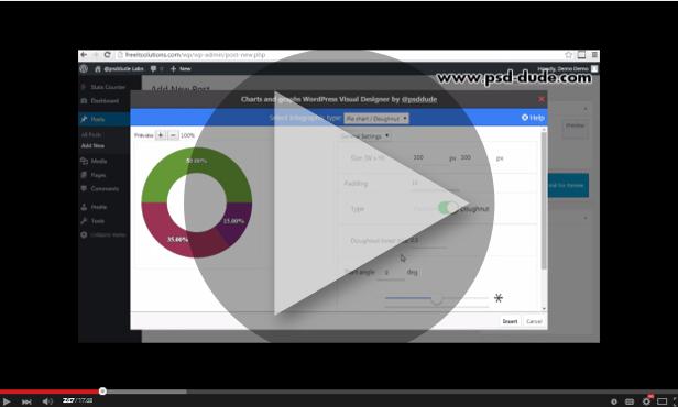 Charts and graphs WordPress Visual Designer - 1