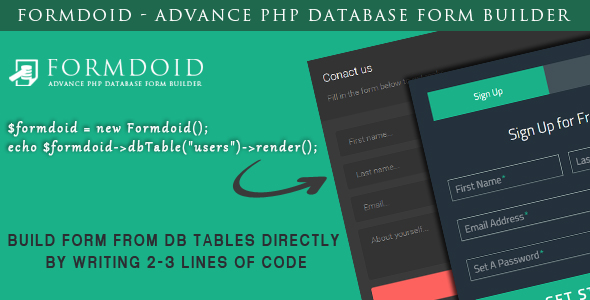 Formdoid - Advance PHP Database Form Builder