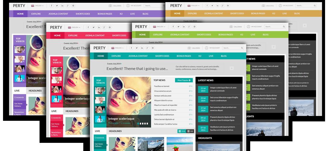 SJ Perty - 5 preset color styles
