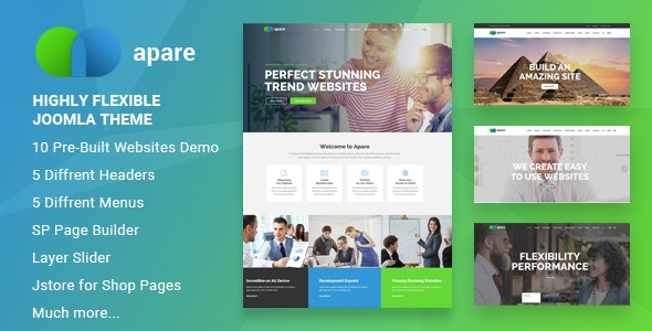 Apare - Responsive Multipurpose Joomla Website Template With Page Builder - Business Corporate