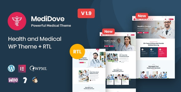 MediDove | Health and Medical WordPress Theme + RTL