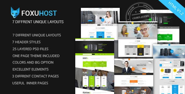 Foxuhost - Web Hosting, Responsive HTML5 Template - Hosting Technology