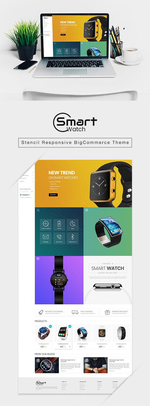 Materient Smart Watches Stencil BigCommerce Theme