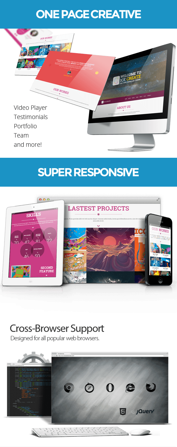 ICE Create - Responsive One Page HTML Template preview